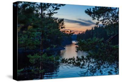 Sundown, Stora Le Lake, Dalsland, Götaland, Sweden-Andrea Lang-Stretched Canvas Print