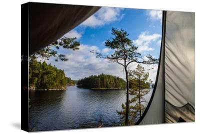 Wild camping, Stora Le Lake, Dalsland, Götaland, Sweden-Andrea Lang-Stretched Canvas Print