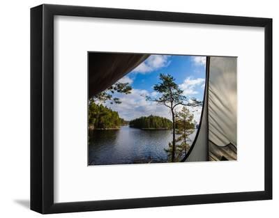 Wild camping, Stora Le Lake, Dalsland, Götaland, Sweden-Andrea Lang-Framed Photographic Print