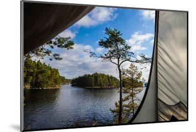 Wild camping, Stora Le Lake, Dalsland, Götaland, Sweden-Andrea Lang-Mounted Photographic Print