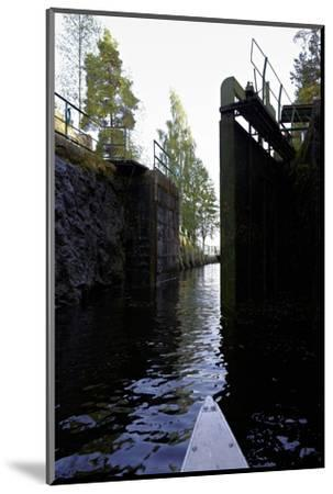 Sluice at Lennartsfors in the Dalsland Canal, on Lelång Lake, Dalsland, Värmlands län, Sweden-Andrea Lang-Mounted Photographic Print