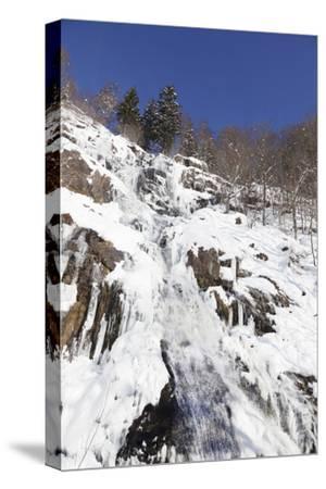 Hangloch Wasserfall close Todtnau, Black Forest, Baden-Wurttemberg, Germany-Markus Lange-Stretched Canvas Print