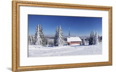 Winter scenery on Kandel close church, Black Forest, Baden-Wurttemberg, Germany-Markus Lange-Framed Photographic Print
