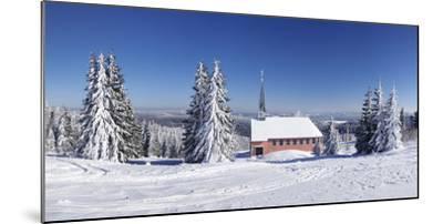 Winter scenery on Kandel close church, Black Forest, Baden-Wurttemberg, Germany-Markus Lange-Mounted Photographic Print