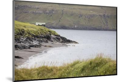 Faroes, Vagar, Bour, house, coast-olbor-Mounted Photographic Print
