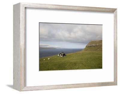Faroes, Sandoy, house-olbor-Framed Photographic Print