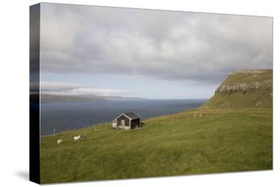 Faroes, Sandoy, house-olbor-Stretched Canvas Print
