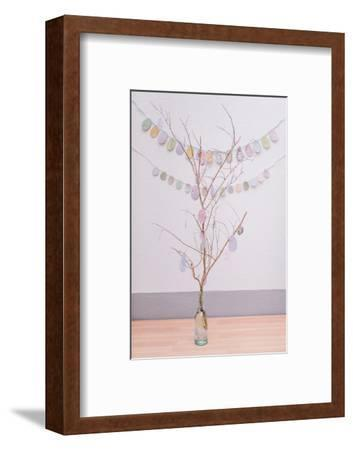 crafted Easter bunch, close up, Still life Easter-mauritius images-Framed Photographic Print