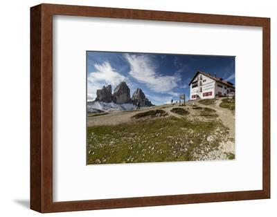 Europe, Italy, Alps, Dolomites, Sexten Dolomites, South Tyrol, Rifugio Antonio Locatelli-Mikolaj Gospodarek-Framed Photographic Print