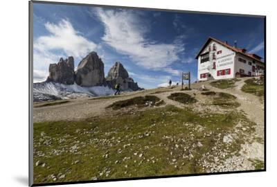 Europe, Italy, Alps, Dolomites, Sexten Dolomites, South Tyrol, Rifugio Antonio Locatelli-Mikolaj Gospodarek-Mounted Photographic Print