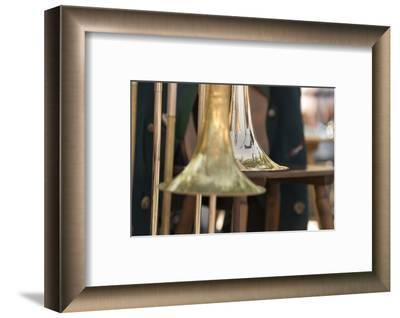 Brass band music, instruments-Christine Meder stage-art.de-Framed Photographic Print