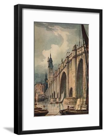 'London Bridge', 1893, (c1915)-Unknown-Framed Giclee Print