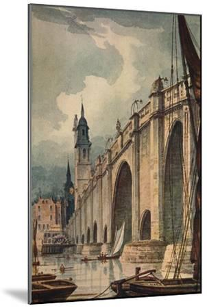 'London Bridge', 1893, (c1915)-Unknown-Mounted Giclee Print