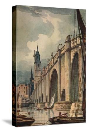 'London Bridge', 1893, (c1915)-Unknown-Stretched Canvas Print