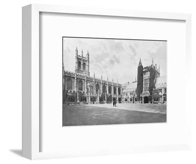 'Magdalen College-Cloister and Bell and Founder's Towers', c1896-Unknown-Framed Photographic Print