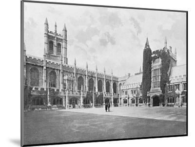 'Magdalen College-Cloister and Bell and Founder's Towers', c1896-Unknown-Mounted Photographic Print