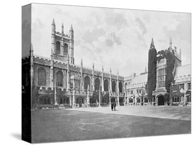 'Magdalen College-Cloister and Bell and Founder's Towers', c1896-Unknown-Stretched Canvas Print