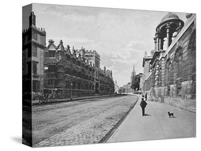 'University College from High Street, Oxford', c1896-Unknown-Stretched Canvas Print