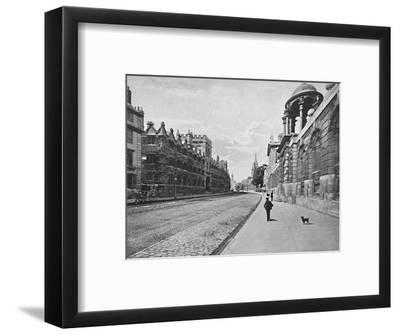 'University College from High Street, Oxford', c1896-Unknown-Framed Photographic Print