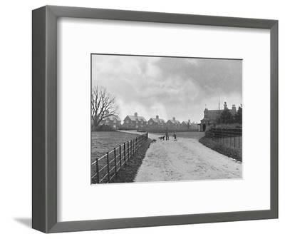 'The Prince of Wales's Model Village at Sandringham', c1896-Unknown-Framed Photographic Print