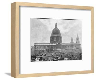 'St. Paul's Cathedral', c1896-Unknown-Framed Photographic Print