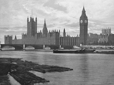 'The Houses of Parliament', c1896-Unknown-Framed Photographic Print