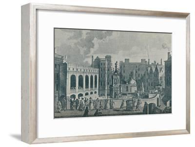 'A View of the King and Queen's Baths and the Great Pump Room at Bath', 1907-Unknown-Framed Giclee Print