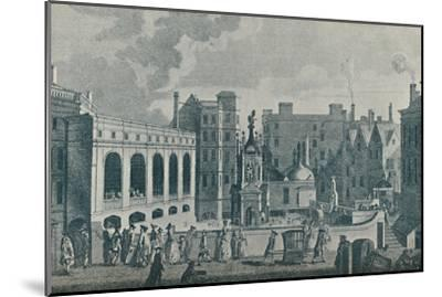 'A View of the King and Queen's Baths and the Great Pump Room at Bath', 1907-Unknown-Mounted Giclee Print