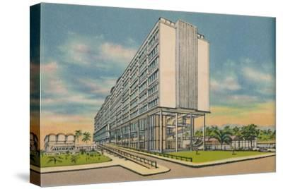 'Federal Building in the Civic Center, Barranquilla', c1940s-Unknown-Stretched Canvas Print