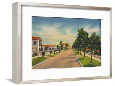 'Street in a residential district, Barranquilla', c1940s-Unknown-Framed Giclee Print