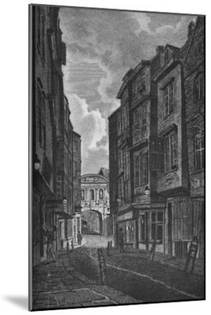 'Temple Bar from Butcher Row', 1907-Unknown-Mounted Giclee Print