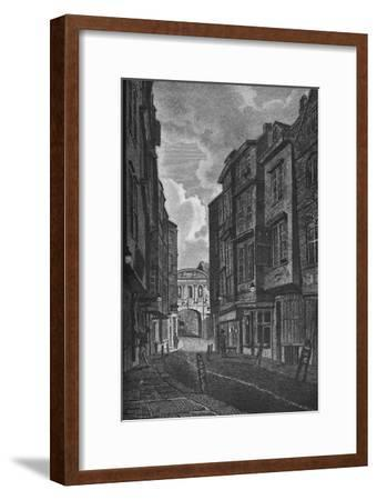 'Temple Bar from Butcher Row', 1907-Unknown-Framed Giclee Print