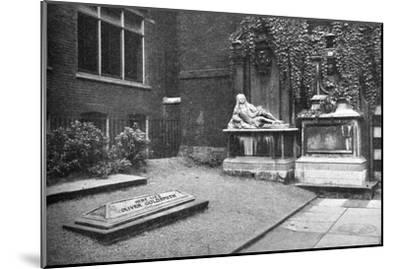 'Goldsmith's Monument in the Temple', 1907-Unknown-Mounted Giclee Print