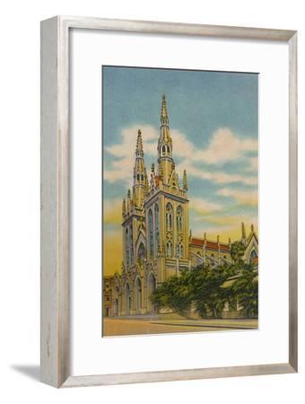 'San Roque Church, Barranquilla', c1940s-Unknown-Framed Giclee Print