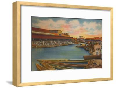 'Public Market, Barranquilla', c1940s-Unknown-Framed Giclee Print