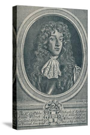 'John Wilmot, Earl of Rochester (b. 1648, d. 1680)', 1907-Unknown-Stretched Canvas Print