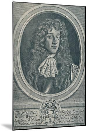 'John Wilmot, Earl of Rochester (b. 1648, d. 1680)', 1907-Unknown-Mounted Giclee Print