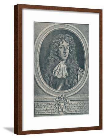 'John Wilmot, Earl of Rochester (b. 1648, d. 1680)', 1907-Unknown-Framed Giclee Print