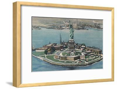 'Statue of Liberty on Bedloe's Island in New York Harbor. New York City', c1940s-Unknown-Framed Giclee Print