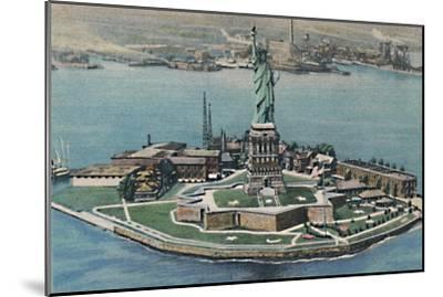'Statue of Liberty on Bedloe's Island in New York Harbor. New York City', c1940s-Unknown-Mounted Giclee Print