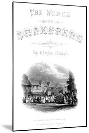 'The Works of Shakspere - The Birth-Place of Shakspere (with Garic's Jubilee Procession)', c1870-Unknown-Mounted Giclee Print