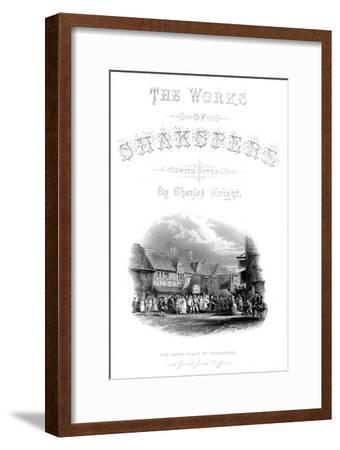 'The Works of Shakspere - The Birth-Place of Shakspere (with Garic's Jubilee Procession)', c1870-Unknown-Framed Giclee Print