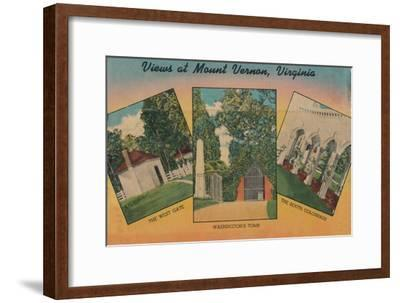 'View at Mount Vernon, Virginia', 1946-Unknown-Framed Giclee Print