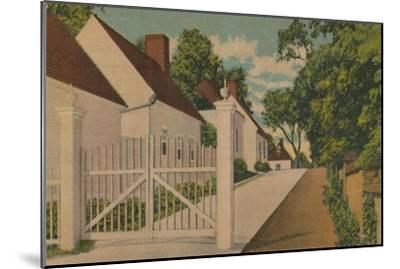 'The South Lane', 1946-Unknown-Mounted Giclee Print