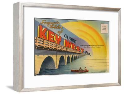 'Souvenir Folder of Quaint Key West Fla. - New Highway', c1940s-Unknown-Framed Giclee Print