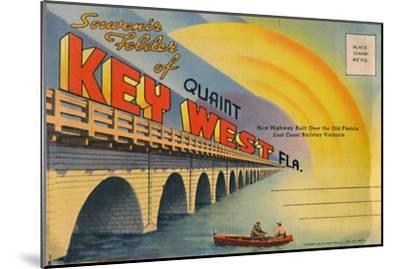 'Souvenir Folder of Quaint Key West Fla. - New Highway', c1940s-Unknown-Mounted Giclee Print