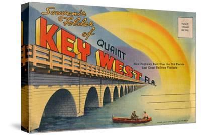 'Souvenir Folder of Quaint Key West Fla. - New Highway', c1940s-Unknown-Stretched Canvas Print