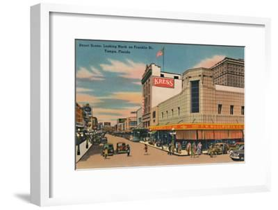 'Street Scene, Looking North on Franklin St., Tampa, Florida', c1940s-Unknown-Framed Giclee Print