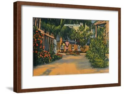 'A Typical Lane Scene', c1940s-Unknown-Framed Giclee Print