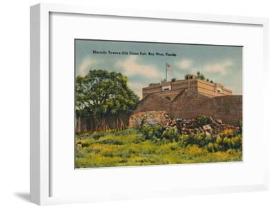 'Martello Towers Old Union Fort, Key West, Florida', c1940s-Unknown-Framed Giclee Print